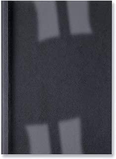 GBC Carpeta Térmica de Encuadernación LeatherGrain, 3 mm, 30 Hojas de Capacidad, A4, Negro, Pack de 100