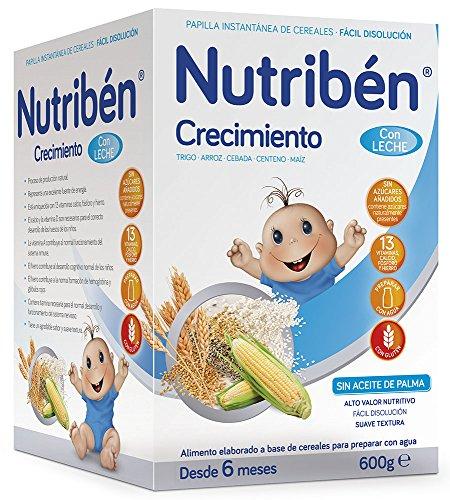 Nutribén Papilla Crecimiento Leche Adaptada - 600 gr