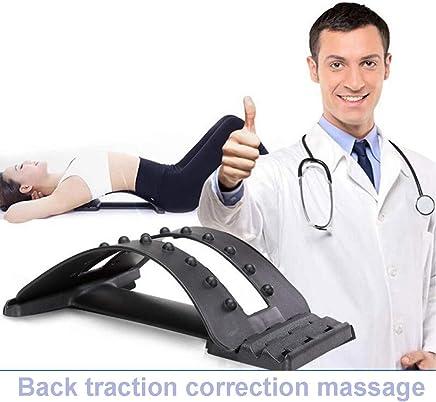 バックブレース姿勢矯正牽引腰椎ひずみサポートポータブル腰椎ウエスト補正3調整可能な設定椎骨マジックバックストレッチャートリートメントディスクヘルニア
