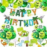 Decoracion Cumpleaños Dinosaurios,Globos de Cumpleaños Dinosaurios,Verde Globos Dinosaurios, Globos de Cumpleaños,Globos Grandes Gigantes Helio Cumpleaños Decoraciones Torta