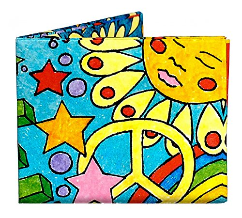Dynomighty Men's Peace and Love Mighty Wallet - Super Thin Lightweight Tyvek Billfold