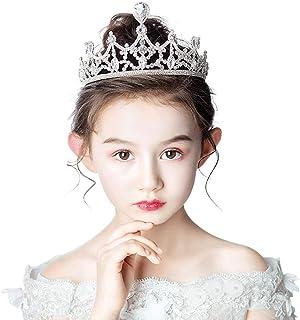 RKY Ragazze Corona, Bambini Fascia Crystal Crown Copricapo Principessa Girl Corona Scherza Gli Accessori dei Capelli, Adat...