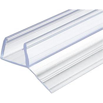 Junta de repuesto para puerta de cristal de ducha (10-12 mm, 200 cm) Lámina de sellado de PVC transparente, se puede acortar, 1 unidad, 2000 mm: Amazon.es: Bricolaje y herramientas