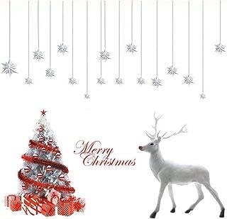 Deggodech Navidad Pegatinas Ventana de Pared Removible Vinilo Ventana Mural Árbol de Navidad Ciervo Pegatinas Cristal Regalos Decoraciones Christmas Wall Stickers (Blanco)