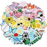 100 Pieces VSCO Stickers Colorful Vinyl Waterproof Water Bottle Stickers for Hydroflasks, Laptop, Phone, Cute Trendy Aesthetic Stickers for Teens, Girls, VSCO Girl Stuff