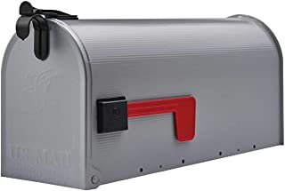 Medium Rural Box Mail Storage Galvanized Steel Gray - mailboxes for Outside - Large Mailbox.