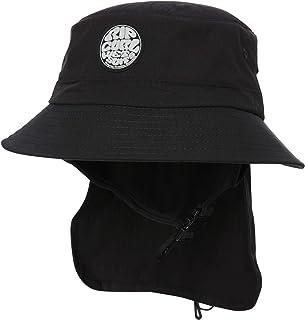 Rip Curl Men's Wetty Surf Hat Cotton Canvas Neoprene Black