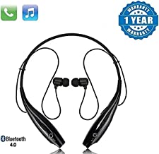 SHOPTOSHOP TM Bluetooth Wireless Headphones Sport Stereo Headsets Hands-Free with Microphone and Neckband for Android and Apple Devices (Multi Colored) (Medium)