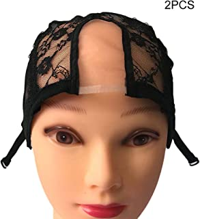 Hairnets Nice 1 Pcs Double Lace Wig Caps For Making Wigs And Hair Weaving Stretch Adjustable Wig Cap Hot Black Dome Cap For Wig Hair Net Street Price