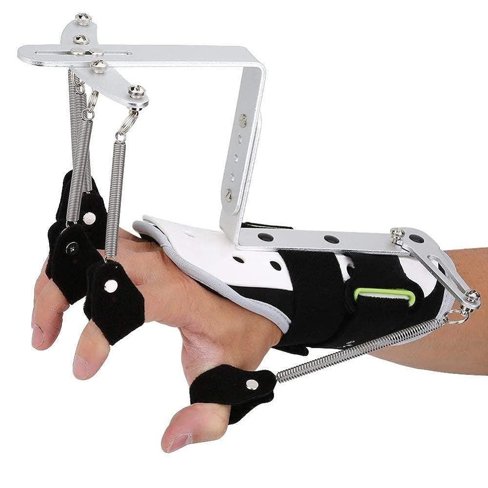 国インタネットを見る実際脳卒中片麻痺患者の指損傷サポート、指リハビリテーション副木サポート手首矯正トレーニング機器