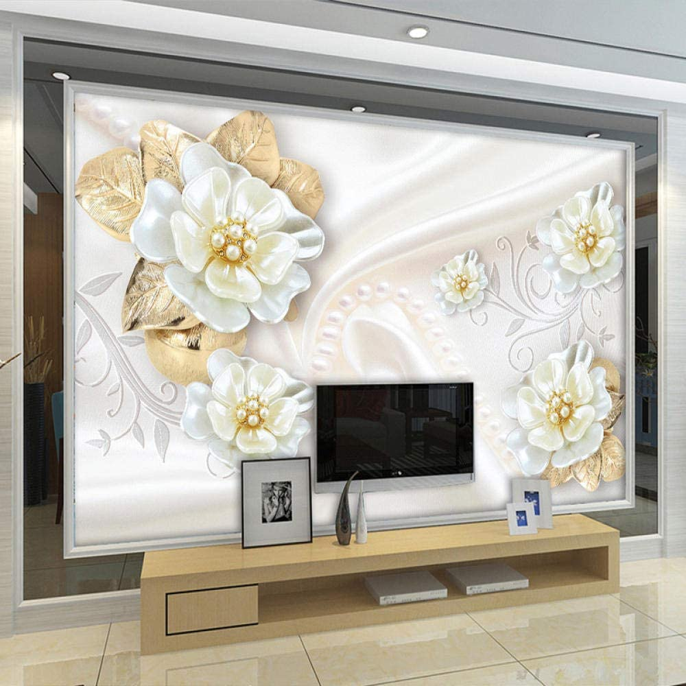 Custom Photo 3d Wallpaper For Walls Roll Embossed Flower Modern Simple Living Room Tv Background Mural Wall Papers Home Decor 350x245cm Amazon Com