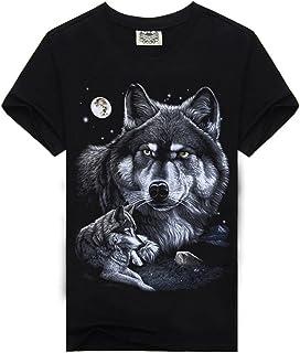 lokp 3D Wolf T Shirt Mens Brand 3D Indians Wolf Print T Shirts Cotton Wolves Men T-Shirt Casual Man Tees Mens Tops