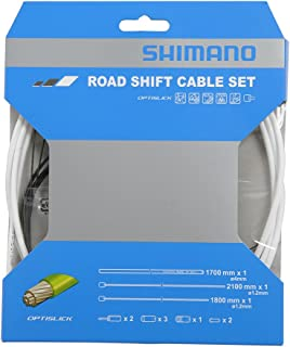 SHIMANO Optislick Derailleur Cable and Housing Set White, One Size