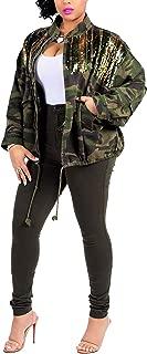 Women Military Camo Lightweight Long Sleeve Camouflage Jacket Coat Pocket