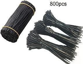 DoTebpa 500PCS 5 inch Plastic Black Twist Ties 300PCS 5 inch Self-Locking Nylon Cable Ties Zip Ties(Black)
