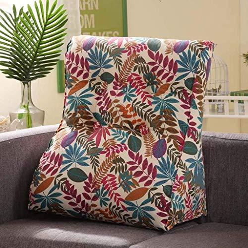 YLCJ Creative Light, driehoekig kussen, breed, voor rug, bed, nachtkastje, grootte kussen, lendenkussen, multifunctioneel hoofdkussen, tas (kleur: J, maat: 45 x 50 cm)