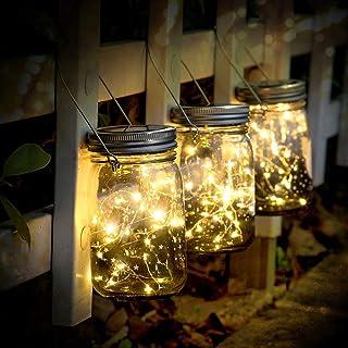 Lampada Solare, 3 Pezzi LanternedaEsterno con 30 LED Impermeabile Luce Solare, Illuminazione Lampada Solare per Interno ...