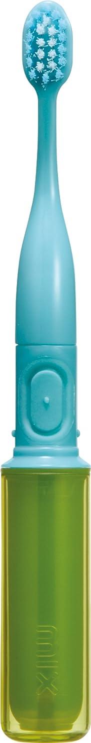 石膏パワーセル韓国語ラドンナ 携帯音波振動歯ブラシ mix (ミックス) MIX-ET グリーン