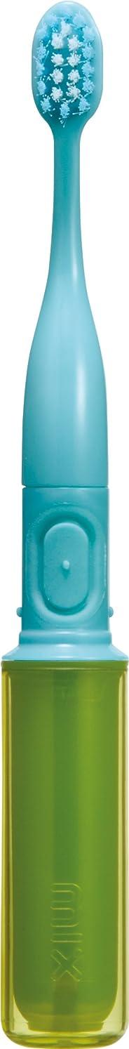突然ラップ写真撮影ラドンナ 携帯音波振動歯ブラシ mix (ミックス) MIX-ET グリーン