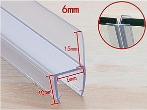Ducha Independiente de sellado de cinta 2mPACK Agua bloque de despegado de silicona a prueba de agua for el baño de la puerta de cristal de la puerta y ventana espesado anticolisión deflector Decoraci