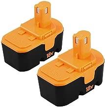 [Upgraded] 3600mAh Ni-Mh Replace for Ryobi 18V Battery Ryobi One+ P100 P101 ABP1801 ABP1803 BPP1820 2 Packs