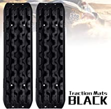 FieryRed Traction Tracks - 2 Pcs Black Traction Mat Recovery for Sand Mud Snow Track Tire Ladder 4X4 - Traction Boards.