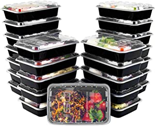 ISO Meal Prep Containers with Lids Certified BPA-Free Stackable Reusable Microwave/Dishwasher/Freezer Safe 28 oz, 25 Count...