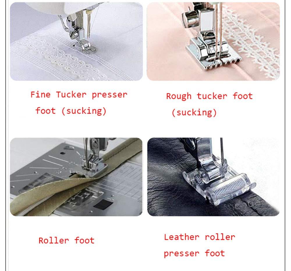 Máquina de coser portátil con pantalla de pie Lámpara de pie 708 puntadas multifunción de 2 velocidades para trabajo pesado Máquina de coser: Amazon.es: Hogar