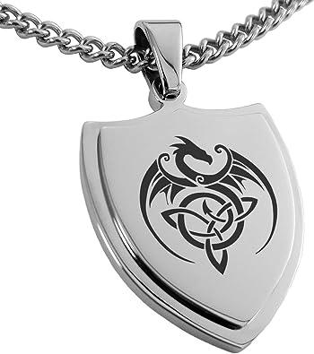 Black Zircons Sterling Silver Dragon Triskele Symbol Black Oxidizing Dragon Handmade Pendant