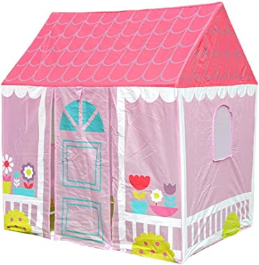 Kids Pop Up Play Tent,Garden Playhouse for Indoors and Outdoors,Boys and Girls Teepee Pink Playhouse