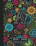 2021-2025: Agenda 5 Anni I Nome Iniziale A I Regalo Calendario Monogramma I Rubrica I Note I Lista di cose da fare I Annuale e Mensile I Pianificatore Quinquennale