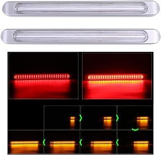 [Avan Knight] LED リア テール ライト シーケンシャル 流れる ウインカー ランプ リア ブレーキ 2本 左右 セット ハイマウント デイライト KRB104