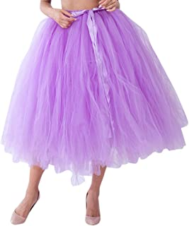 Lazzboy Donnas tutù Gonna Tulle Mini Petticoat Balletto di Danza Organza Taglia 40-64