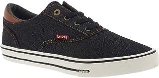 Levi's Men's Ethan-DNM-II Black/Tan Sneakers Shoes 46.5 EU