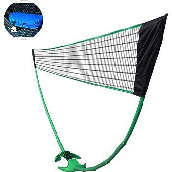 Rete da pallavolo Facile da installare pallavolo per Bambini Calcio Tennis Gorgebuy Rete da Badminton Rete Sportiva in Nylon Facile da installare Senza Pali Pickleball Rete Portatile per Tennis