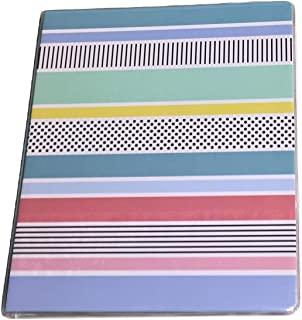 Carolina Pad Studio C The Pattern Play Collection 1 Inch O-Ring Vinyl Binder with Pockets (Festive Stripes, 10 Inches x 11.5 Inches, View Front Window)