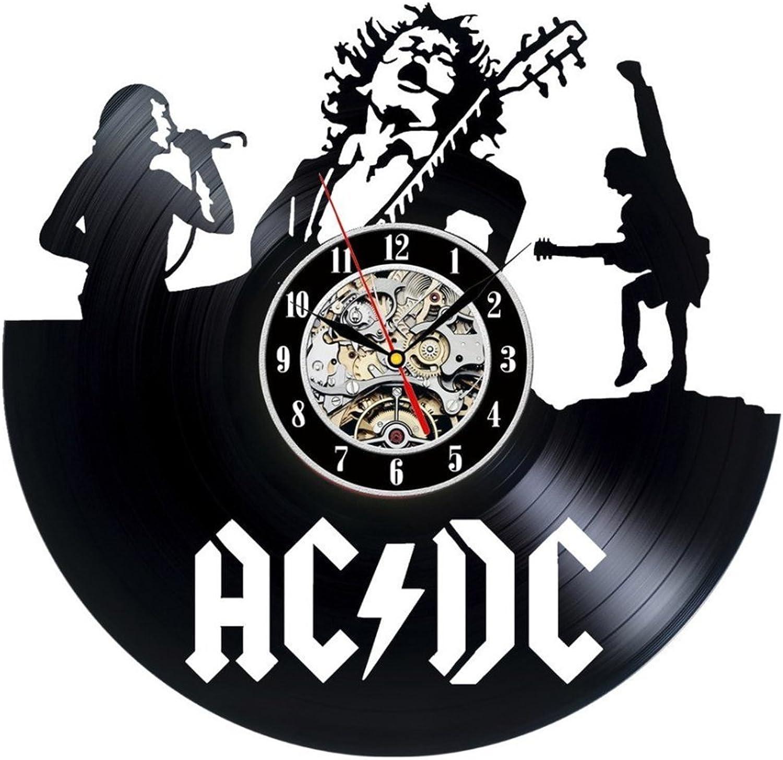 Theme Wall Clock Vinyl Record Clock Unique Black Vinyl CD Clock Living Room Decor Amerian European Retro Style