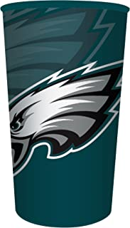 Creative Converting Officially Licensed NFL Plastic Souvenir Cups, 20-Count, 22-Ounce, Philadelphia Eagles