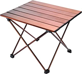YuCheng Camp Table Folding Camping Table Portable Compact Table Heavy Duty Aluminum Rustproof Tabletop with Carry Bag for Outdoor Beach Picnic BBQ and Travel, Easy to Clean