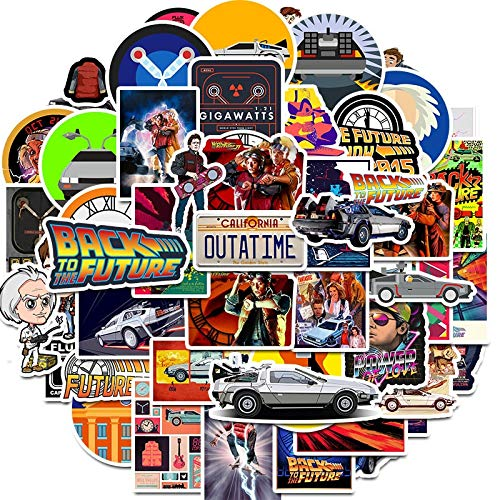 YZFCL Movie Back to the Future sticker bag in laptop refrigerator phone skateboard travel suitcase sticker 50Pcs
