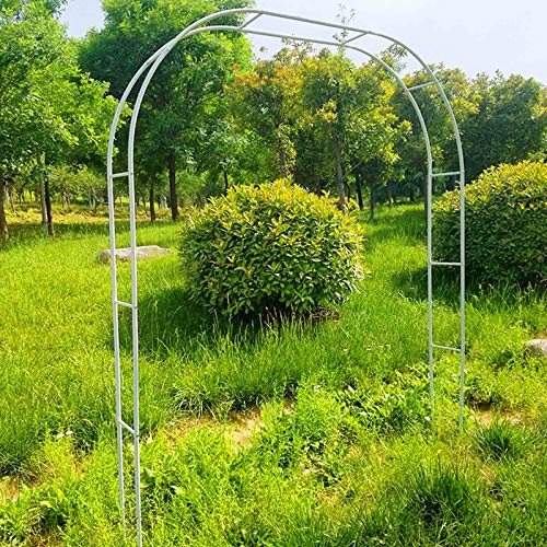 Outech 1.2mx2.2m 3.5MX2.2M Heavy Duty Garden Arch, Metal Rose Arches, Wedding Pergola Arbor Trellis, Pipe Diameter: 19mm, Color: Black, White, Green, Easy to Assemble, For Climbing Plants