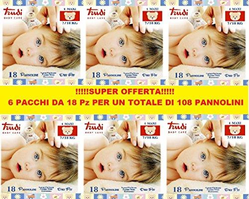 PANNOLINI TRUDI BABY CARE MAXI 7/18 Kg CONFEZIONE 6 PZ