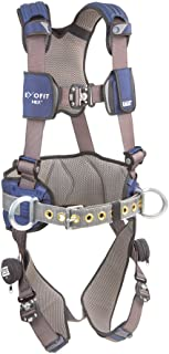 3M Personal Protective Equipment DBI-SALA ExoFit NEX Construction Harness, Alum Back/Side D-Rings, Medium, 1113124, Blue/Gray