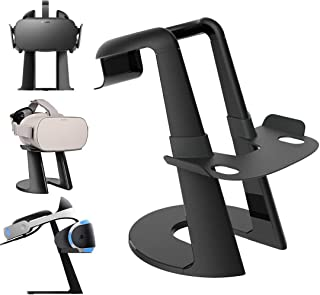AFAITH VR Stand, VR Headset Display Stand with Game Controller Holder for Oculus Rift S/Oculus Quest Headset and Other VR Headset