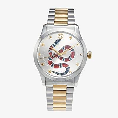 Gucci G-Timeless YA1264075 (Silver/Two-Tone Yellow Gold) Watches