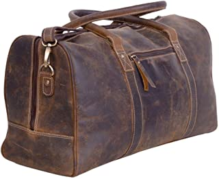 Leather Travel Duffel Bags for Men and Women Full Grain Leather Overnight Weekend Leather Bags Sports Gym Duffle.