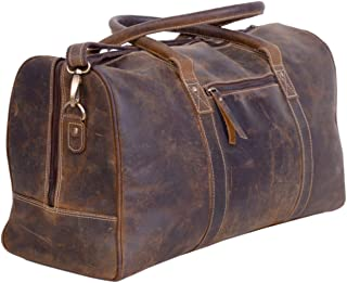 Leather Duffel Bags for Men and Women Full Grain Leather Travel Overnight Weekend Leather Bags Sports Gym Duffel for Men (24 Inch)