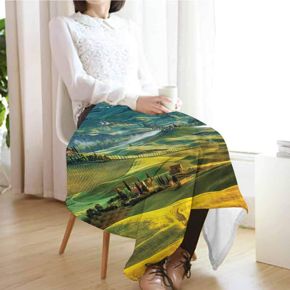 Custom&blanket Manta para Adultos con diseño de Flores de Begonia en Caja, persianas de Madera, Pared de ladrillo Romagna Italia, Mantas de sofá de Color Naranja Blanco y Verde: Amazon.es: Hogar