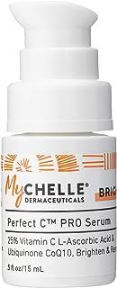 MyChelle Perfect C PRO Serum, Professional-Level 25% L-Ascorbic Acid Vitamin C Serum for All Skin Types, 0.5 fl oz