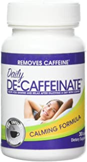 Daily De-Caffeinate: The most potent caffeine eliminator on the market! Natural Acting Non-Addictive Sleep aid for coffee and caffeine lovers! Deeper Sleep – GAURANTEED!